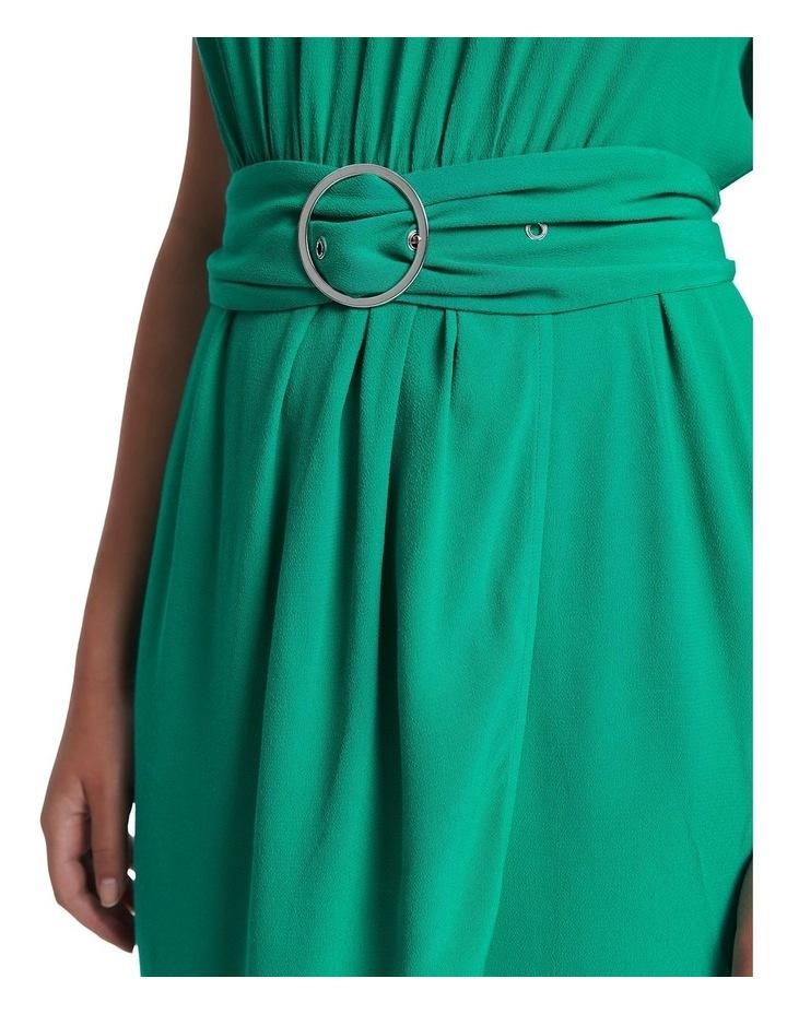 Green Light Crepe Dress image 4
