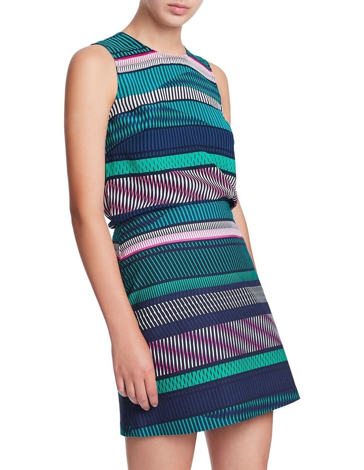 Staggered Stripe Silk Tank image 1