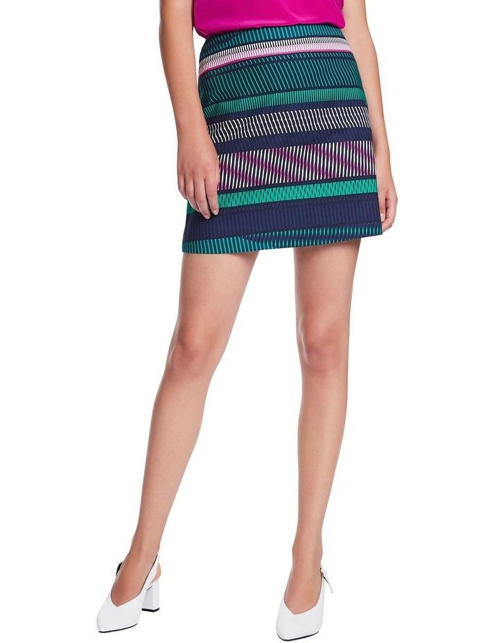 Staggered Stripe Skirt image 1
