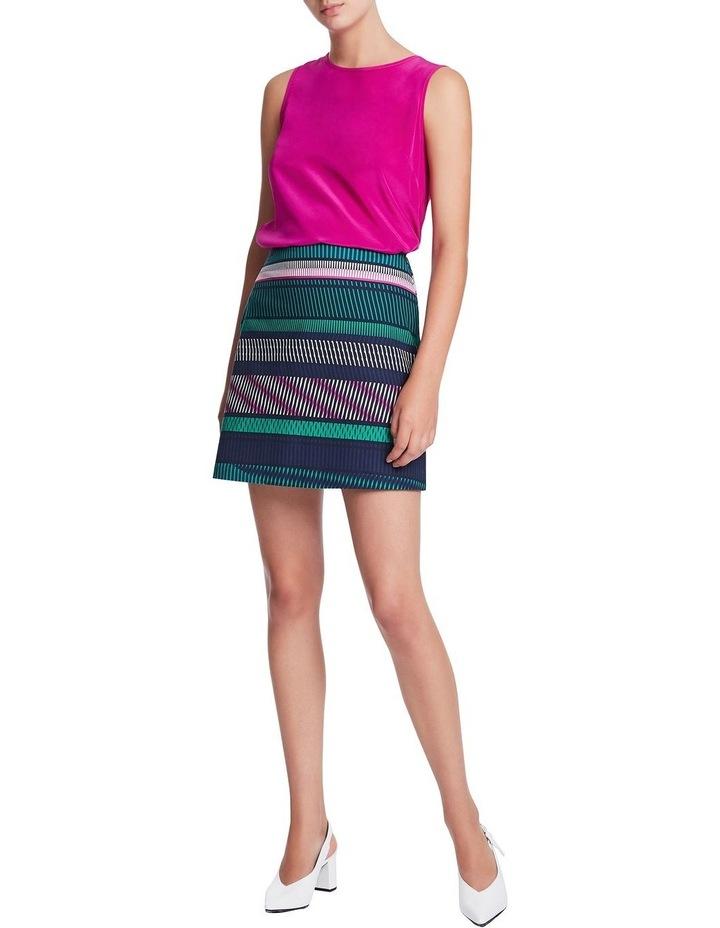 Staggered Stripe Skirt image 2