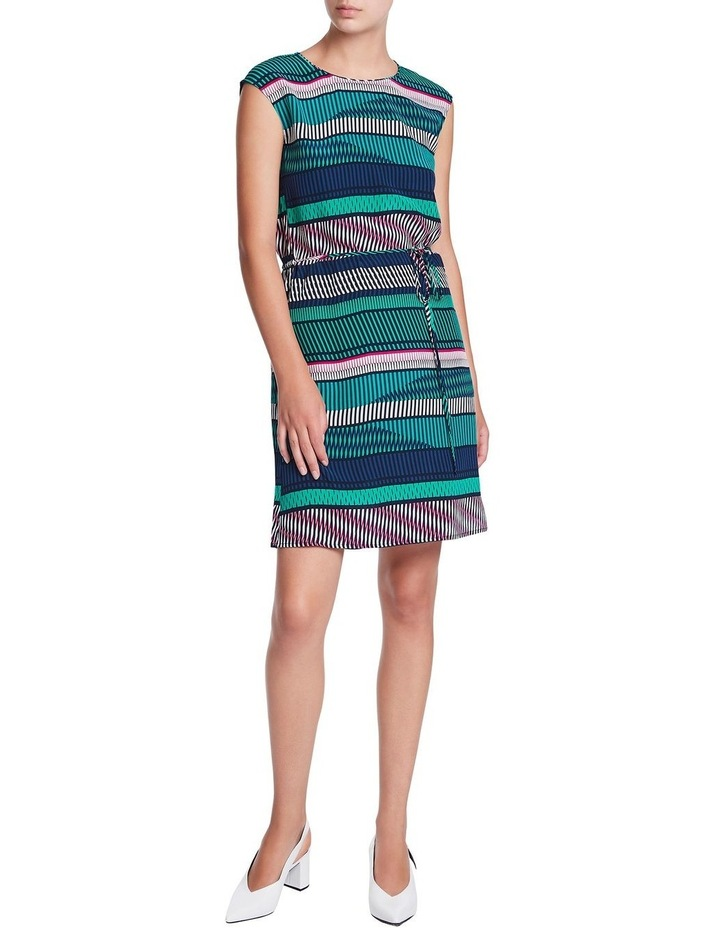 Staggered Stripe Silk Dress image 1