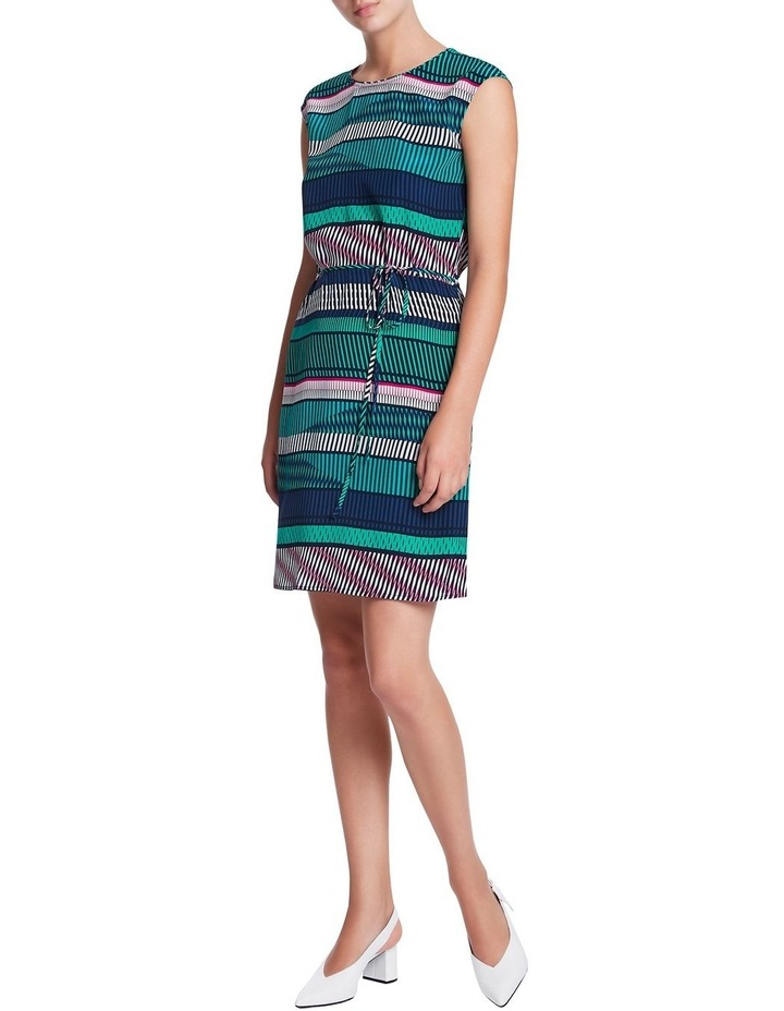 Staggered Stripe Silk Dress image 2