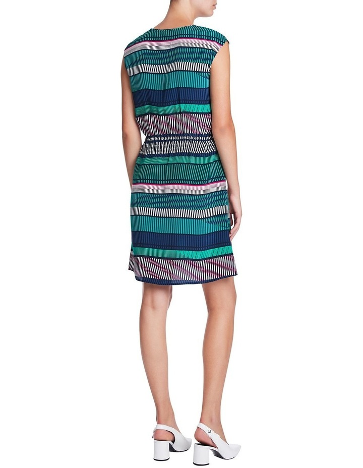 Staggered Stripe Silk Dress image 3