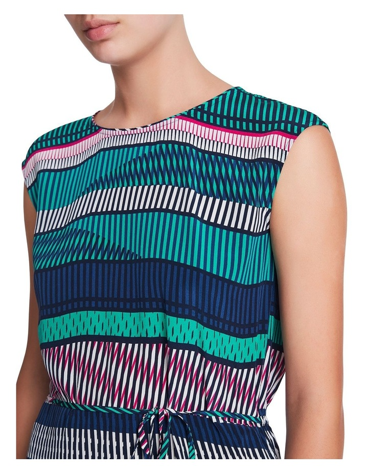 Staggered Stripe Silk Dress image 4