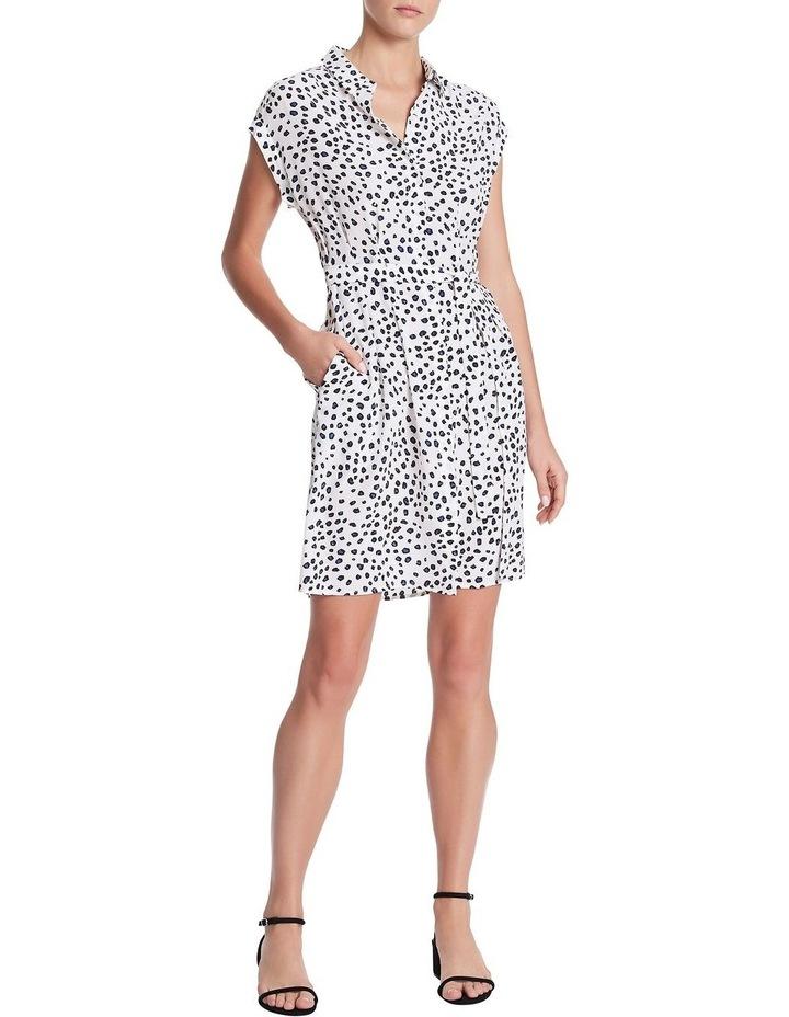 Leopard Silk Shirt Dress image 1
