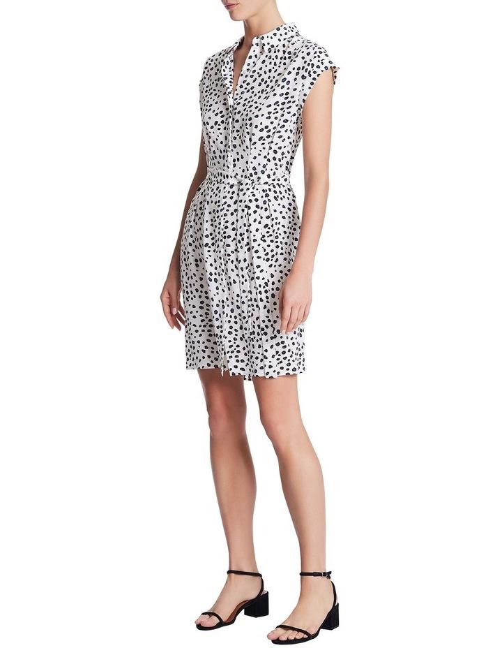 Leopard Silk Shirt Dress image 2