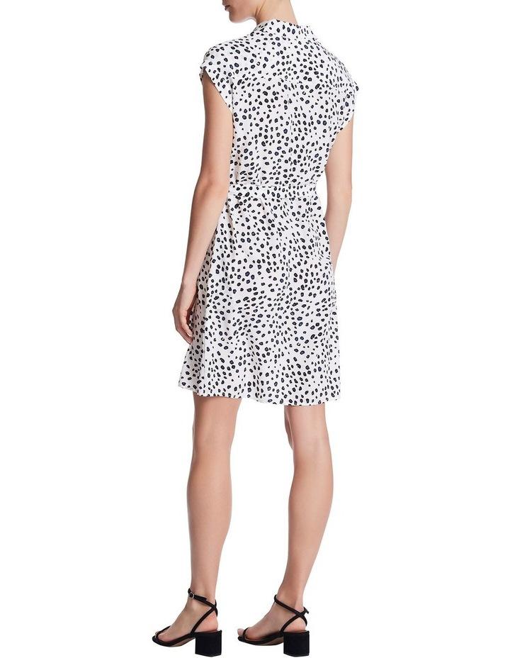 Leopard Silk Shirt Dress image 3