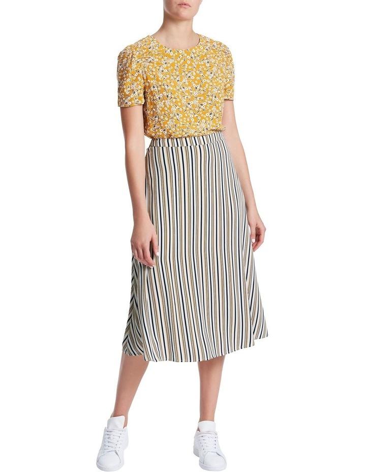 Mustard Stripe Skirt image 2