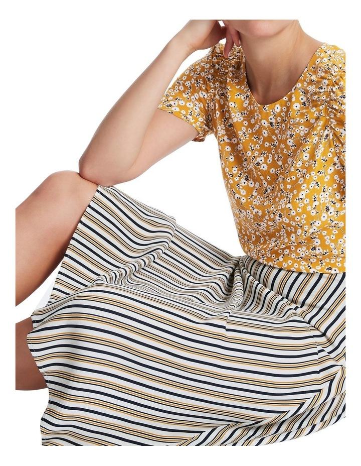 Mustard Stripe Skirt image 4