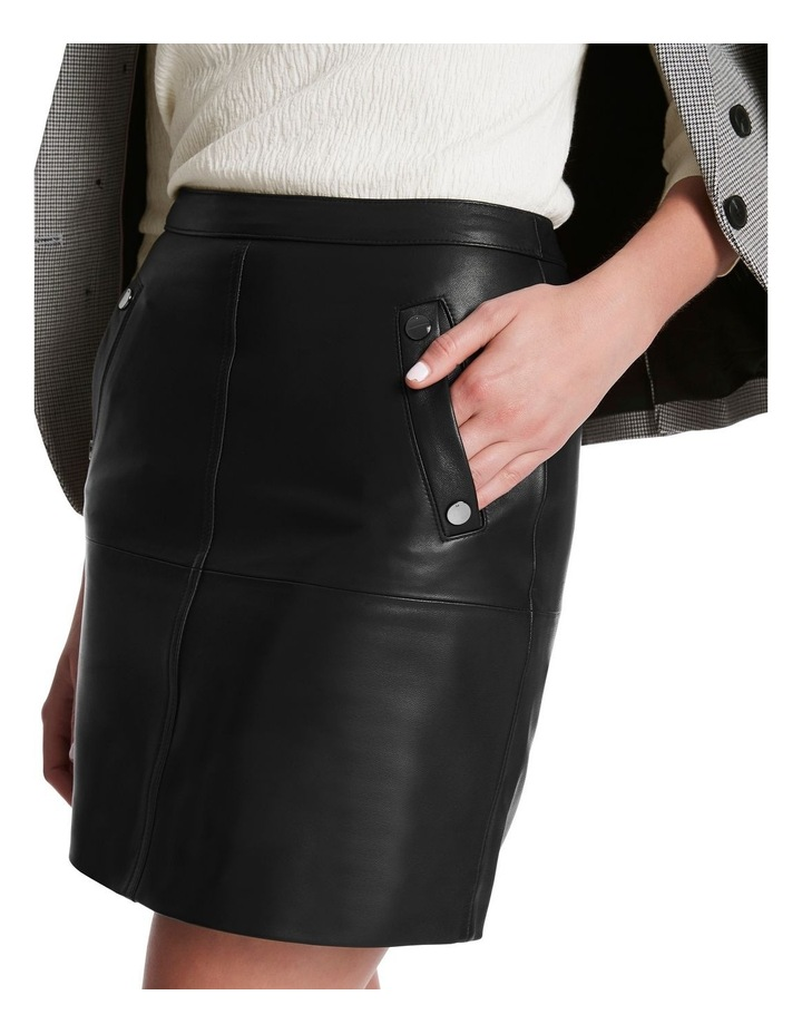 Chrissie Leather Skirt image 4