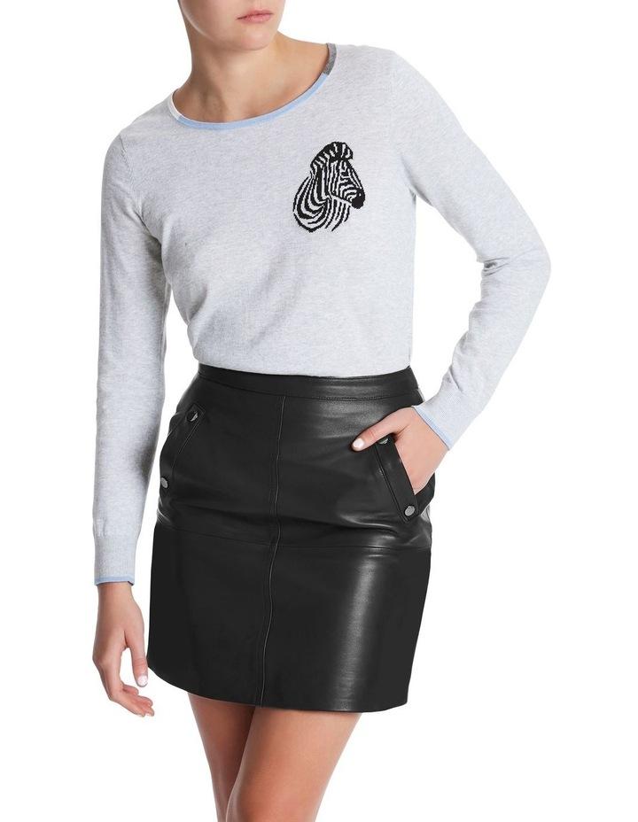 Zebra Intarsia Cotton Knit image 1