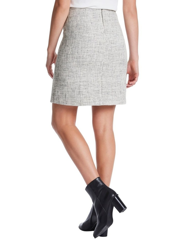 Neutral Tweed Skirt image 3
