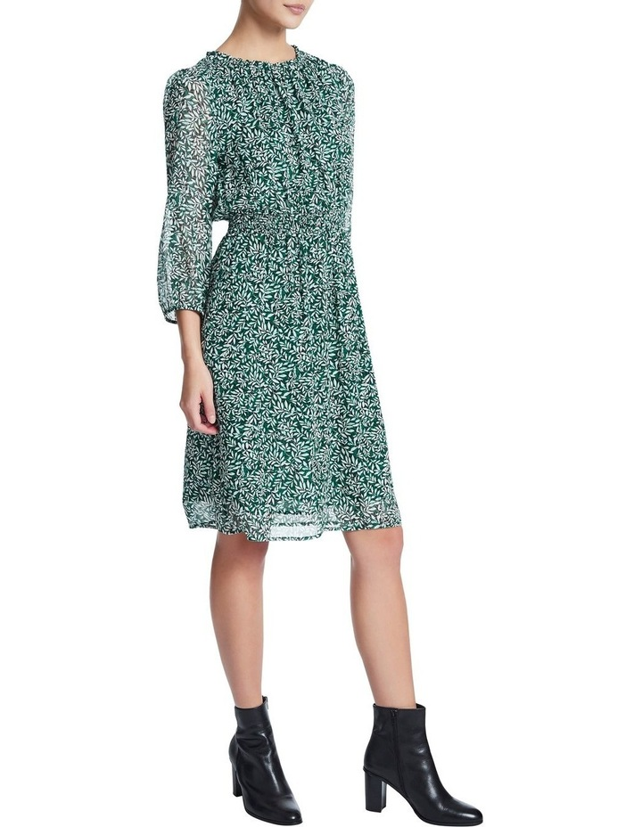 Fern Floral Silk Georgette Dress image 1