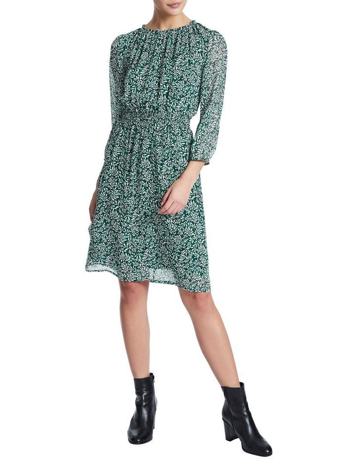 Fern Floral Silk Georgette Dress image 2