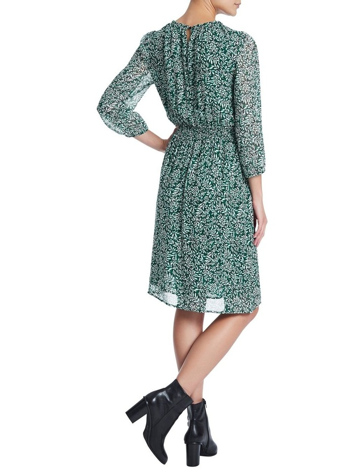 Fern Floral Silk Georgette Dress image 3