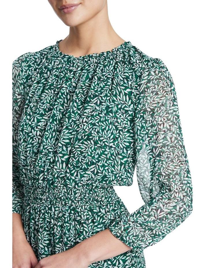 Fern Floral Silk Georgette Dress image 4