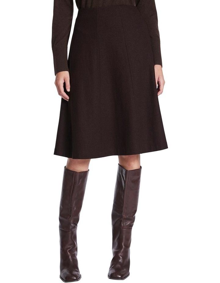 Brushed Wool Midi Skirt image 1