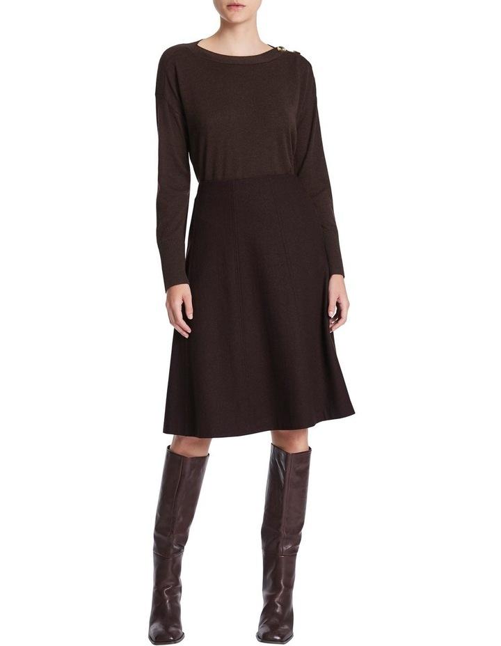 Brushed Wool Midi Skirt image 2