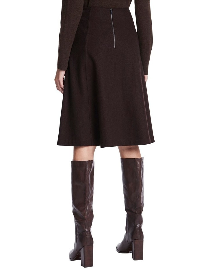 Brushed Wool Midi Skirt image 3