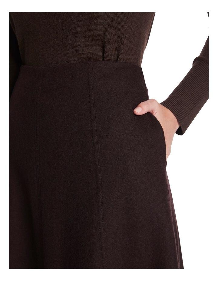 Brushed Wool Midi Skirt image 4
