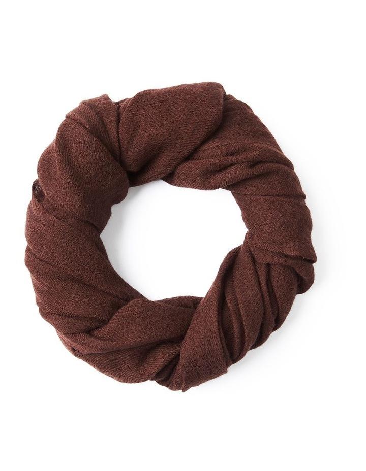 Chocolate Wool Scarf image 1