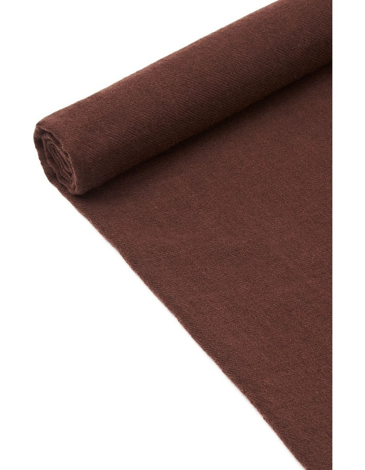 Chocolate Wool Scarf image 2