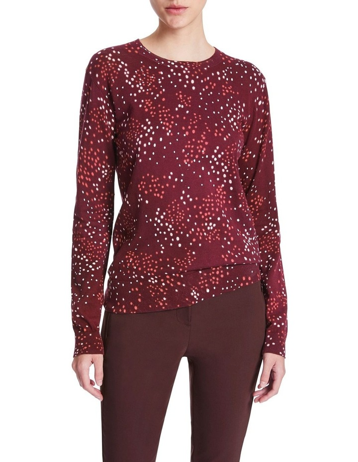 Scattering Dot Printed Knit image 1