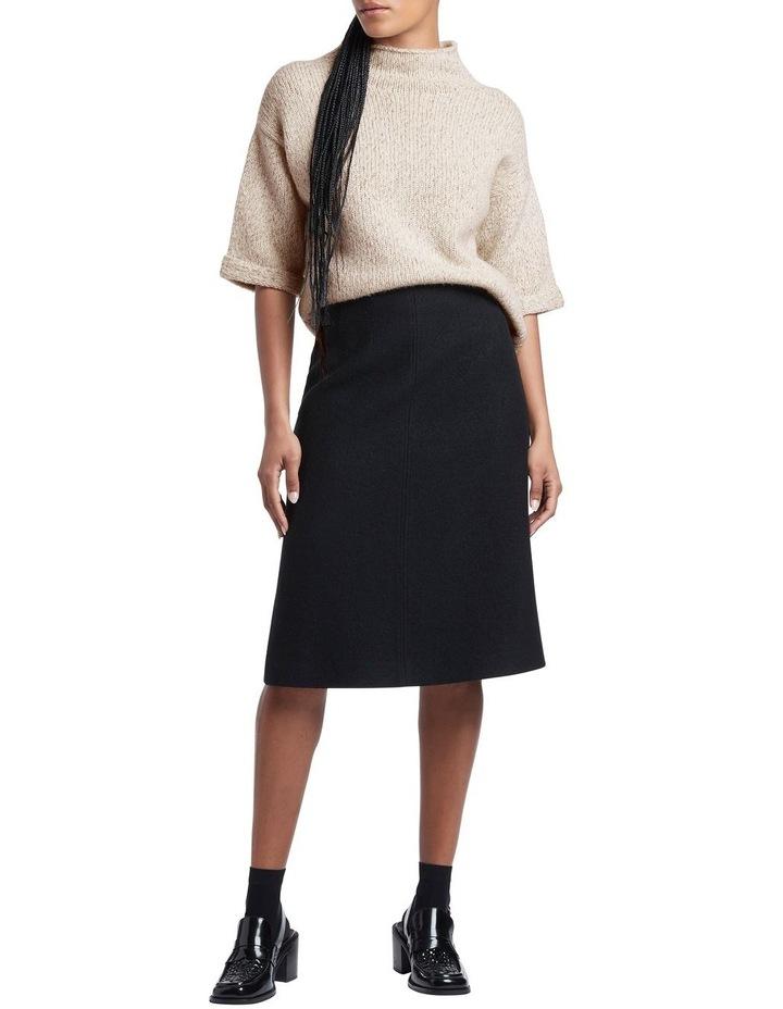 Felted  Wool Midi Skirt image 1