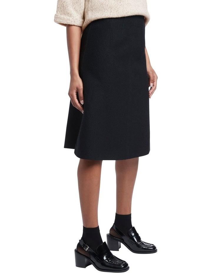 Felted  Wool Midi Skirt image 2