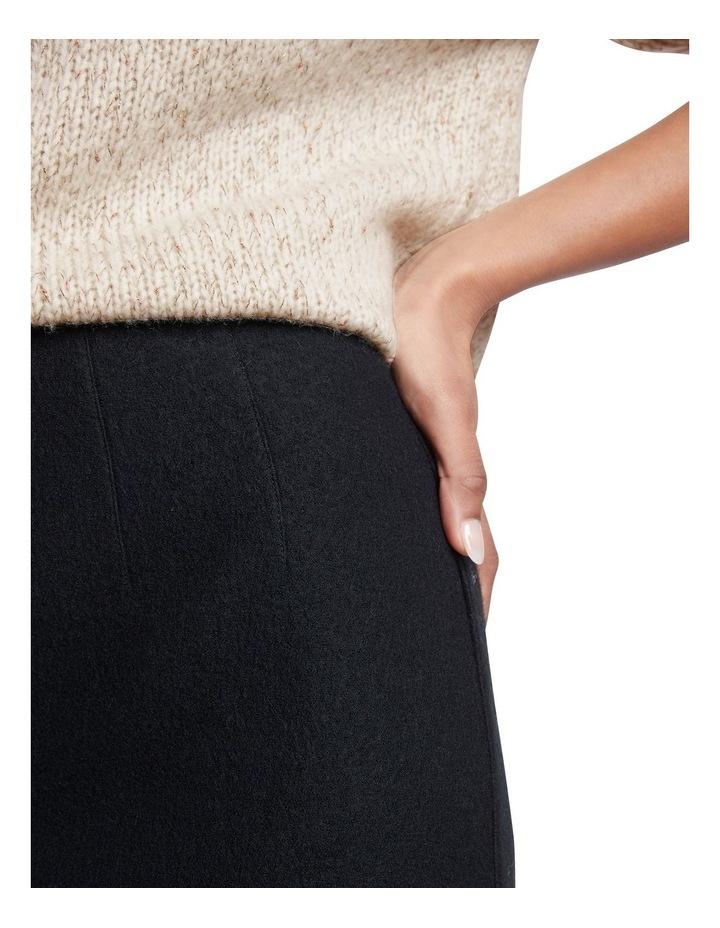Felted  Wool Midi Skirt image 3