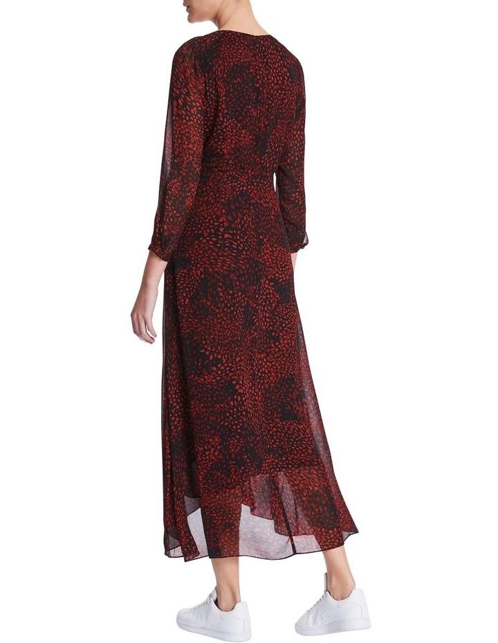 Animal Swirl Viscose Dress image 3
