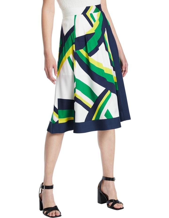 Crazy Stripe Viscose Skirt image 1