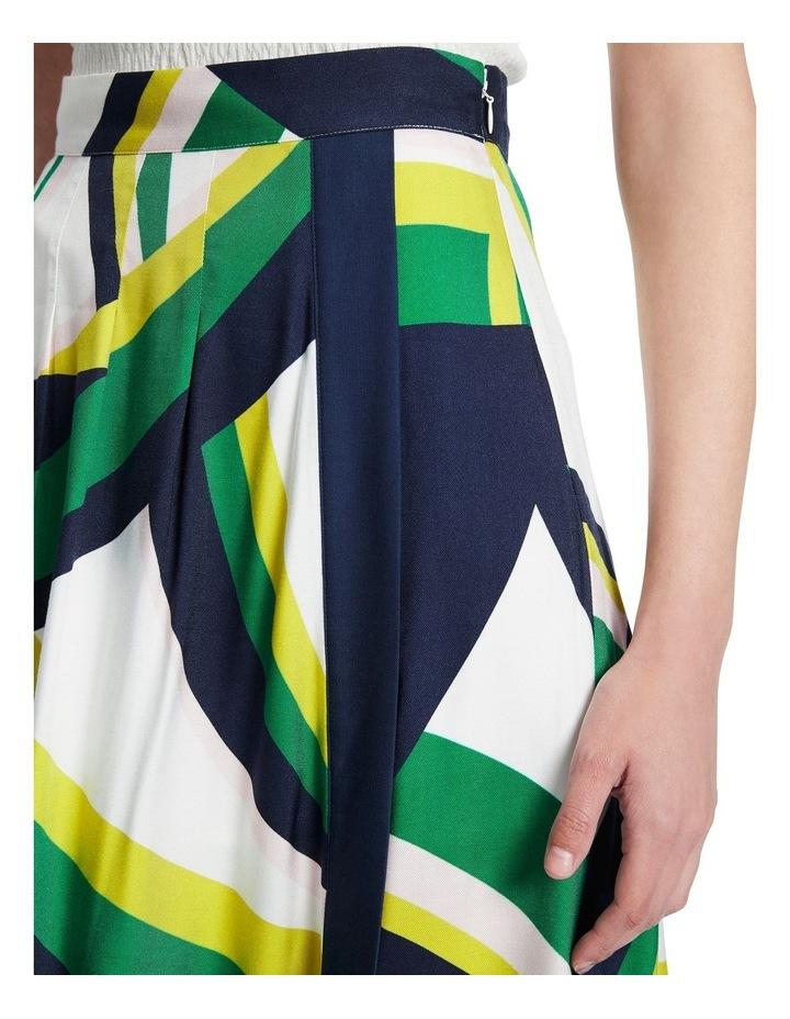 Crazy Stripe Viscose Skirt image 4
