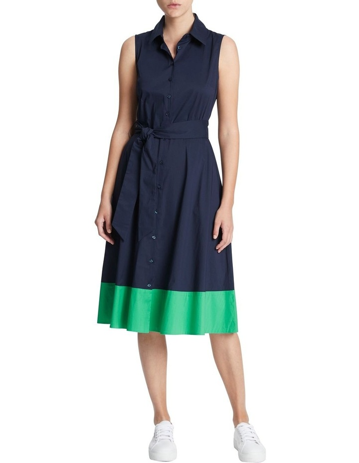 Colour Block Cotton Sheen Dress image 1