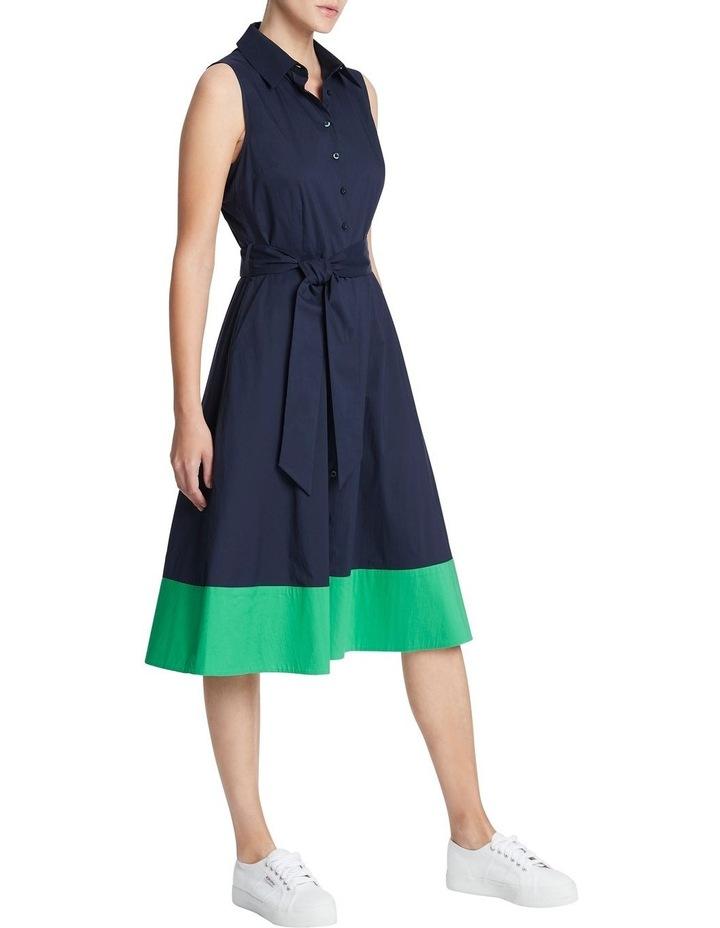 Colour Block Cotton Sheen Dress image 2