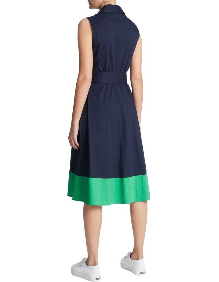 Colour Block Cotton Sheen Dress image 3