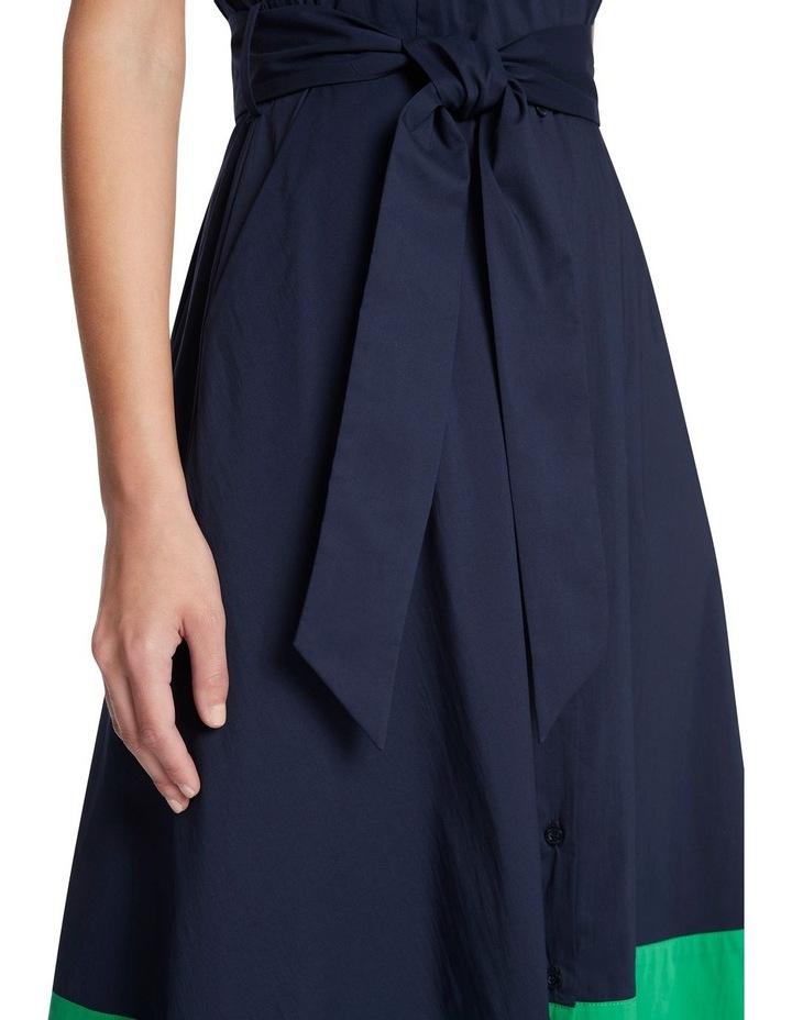 Colour Block Cotton Sheen Dress image 4