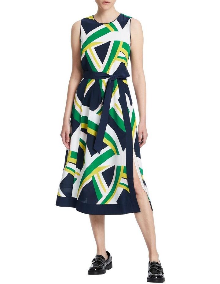 Crazy Stripe Silk Dress image 1
