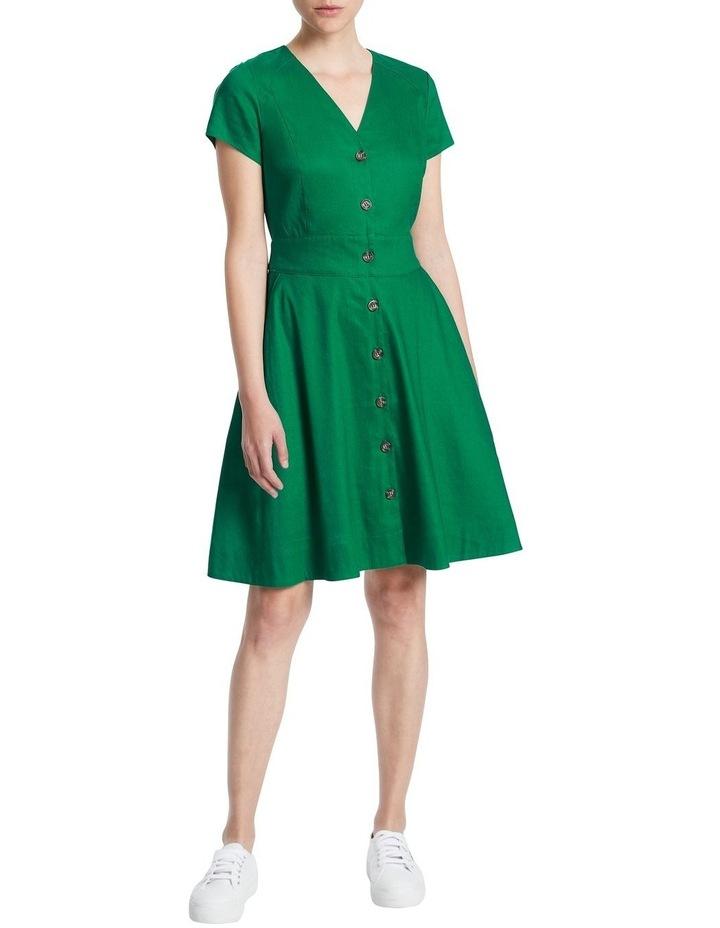 Eva Button Up Linen Dress image 1