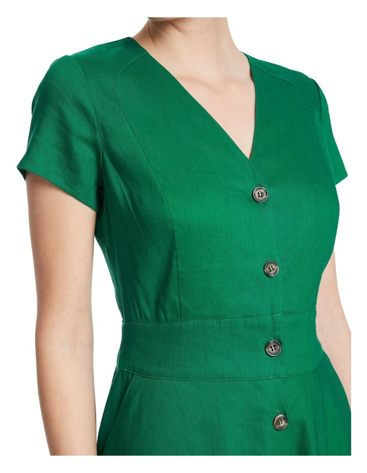 Eva Button Up Linen Dress image 4
