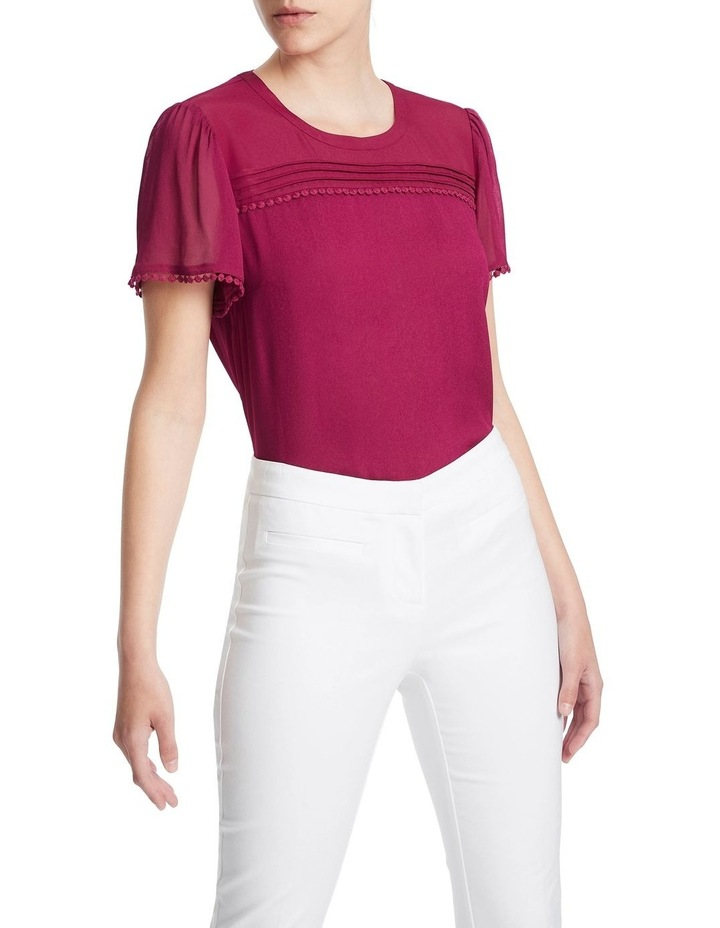 Raspberry Viscose Georgette Top image 1