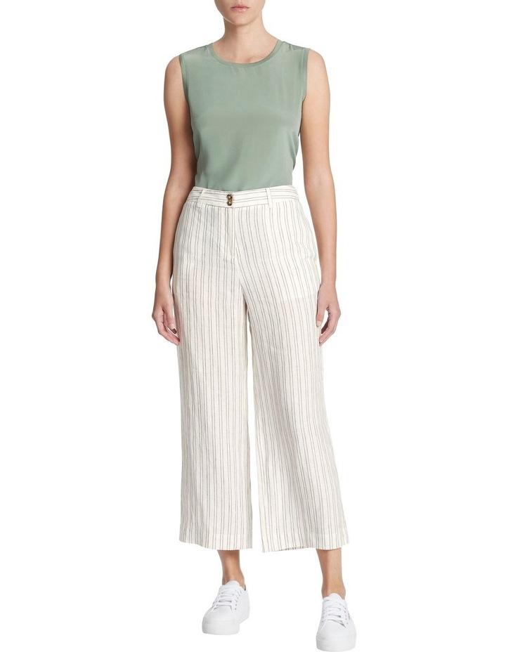 Percy Stripe Linen Culotte image 1
