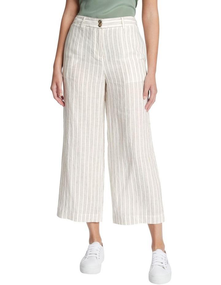 Percy Stripe Linen Culotte image 2