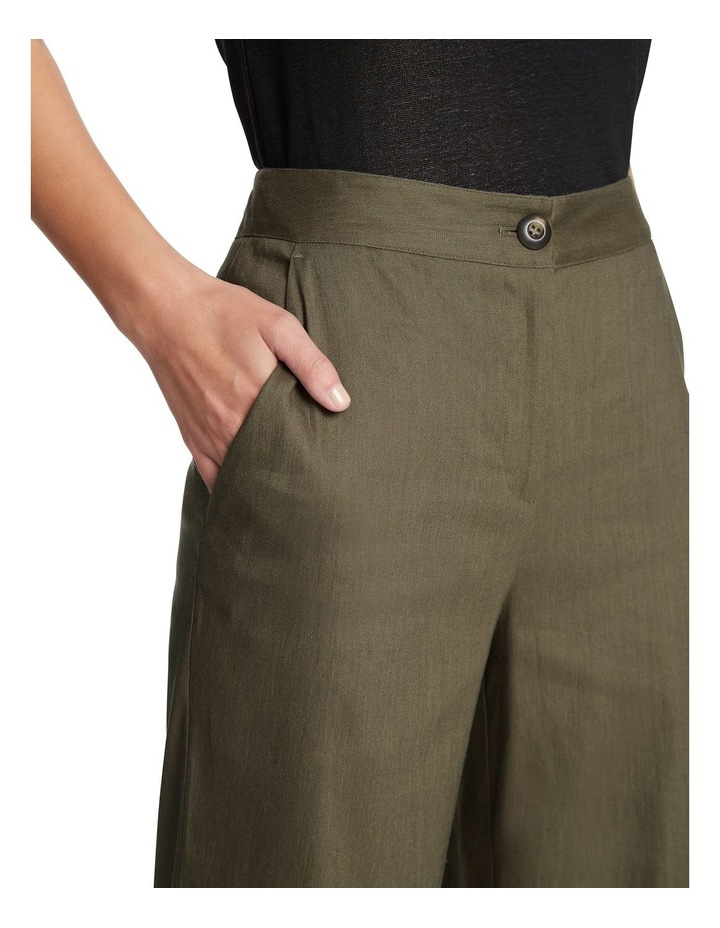 Eva Stretch Linen Wide Leg Pant image 4