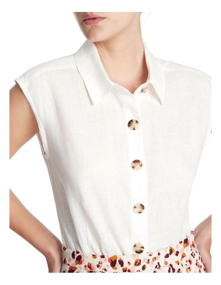 Sleeveless Linen Shirt image 4