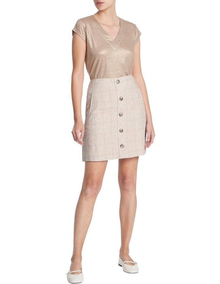Checked Linen Skirt image 1