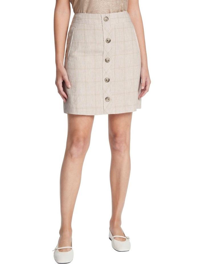 Checked Linen Skirt image 2