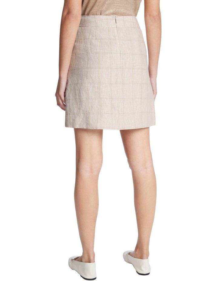 Checked Linen Skirt image 3