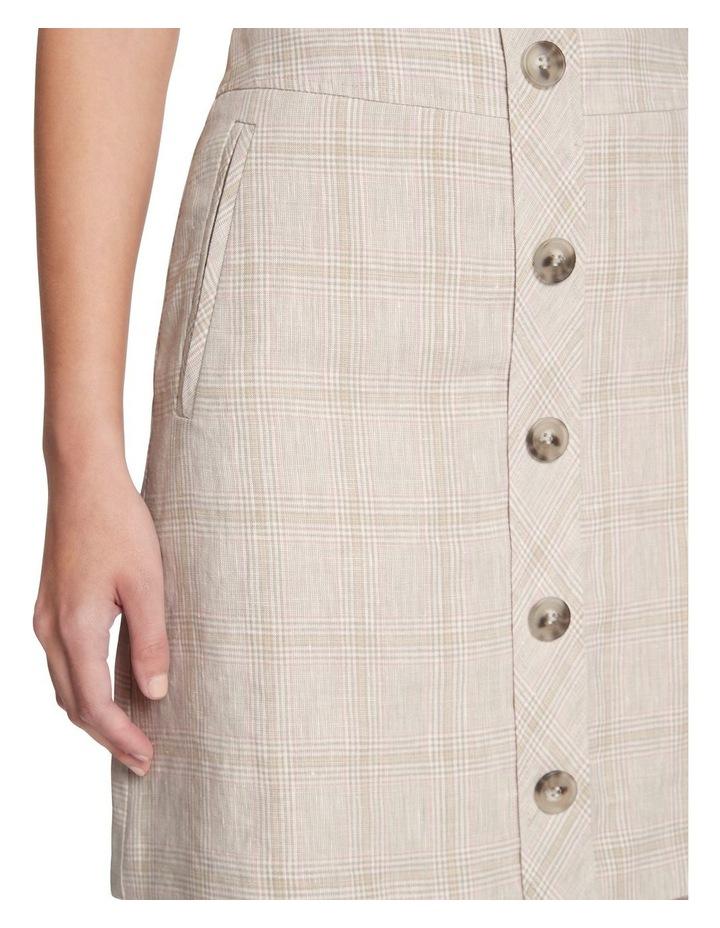 Checked Linen Skirt image 4