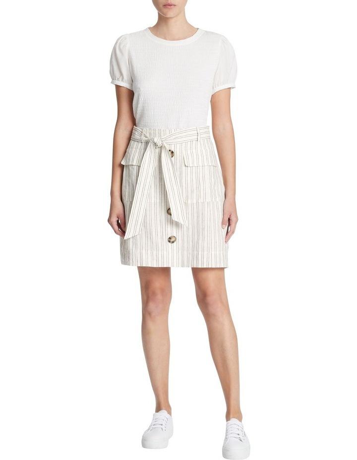 Percy Stripe Linen Skirt image 1